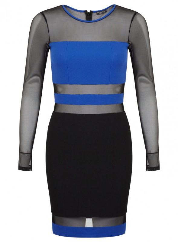 Cobalt Panel Mesh Dress Price - £45.00
