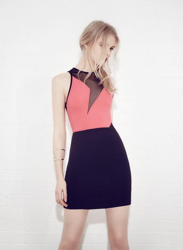 Colour Block Mesh Dress Price - £39.00