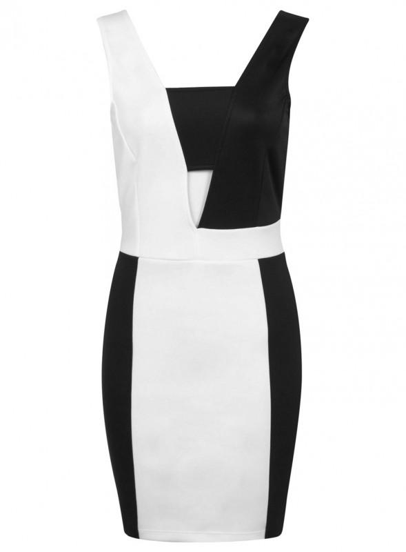 Mono Plunge Dress Price - £39.00