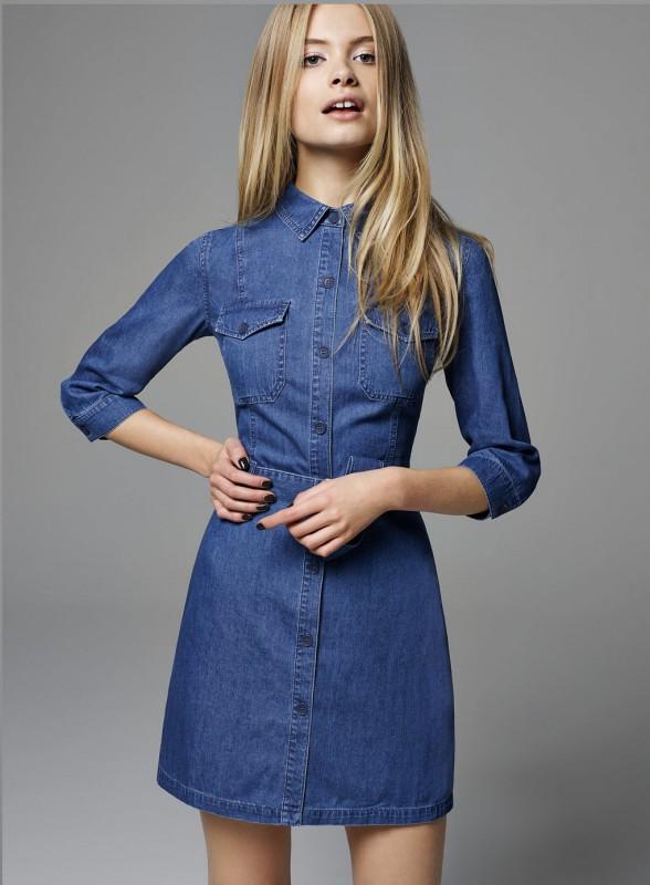 Utility Denim Shirt Dress Price - £42.00