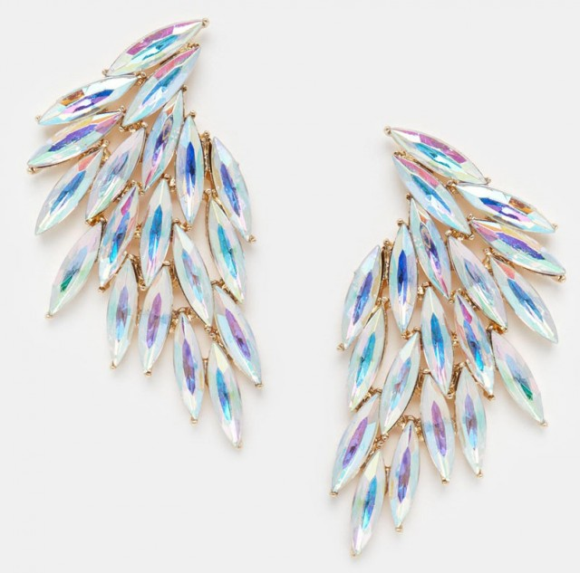 asos love rosks jewelled fan earings