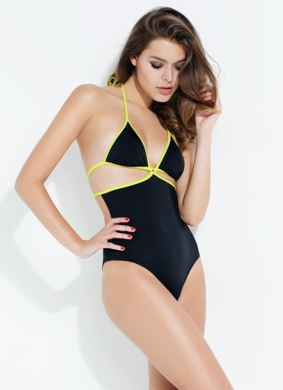 lagent cari swimsuit lime and black