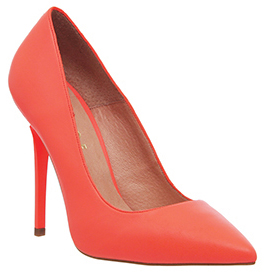 office fluro coral shoes