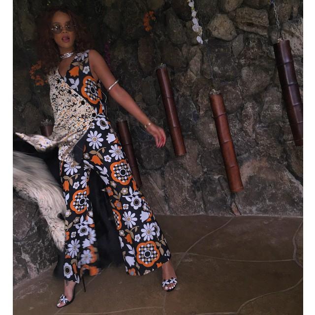 rihanna-celeine-print-jumpsuit
