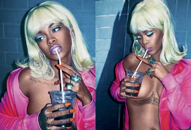 rihanna topless v magazine