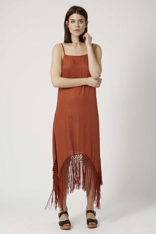 Fringe Hem Maxi Dress