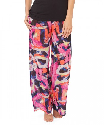 Life is a Beach pink cotton trousers