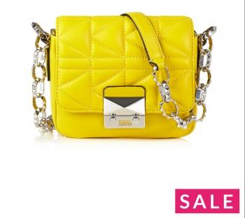 KARL LAGERFELD K Kuilted Mini Cross-Body Bag - Yellow