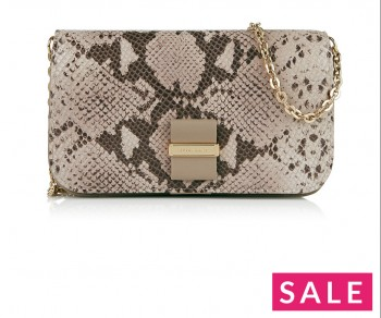 SEE BY CHLOE Python Print Wallet Clutch - Cream