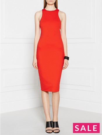 T BY ALEXANDER WANG Lux Ponte Dress - Tomato