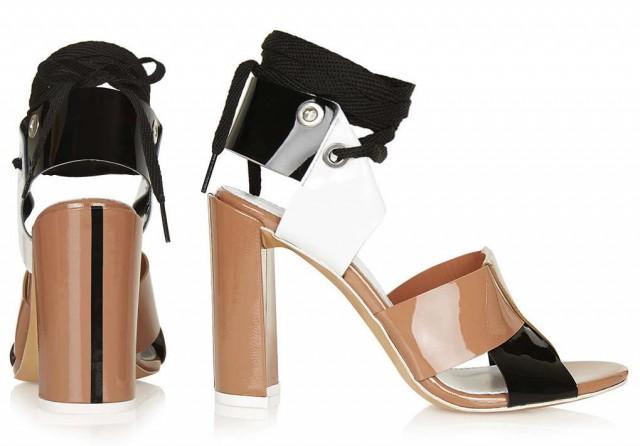 TOPSHOP UNIQUE Patent Leather Sandals