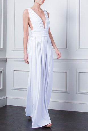 melena maxi dress white