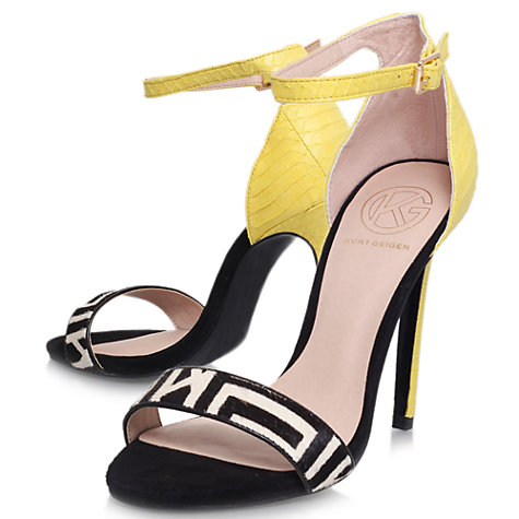 KG by Kurt Geiger Joy Pony Barely There High Heel Sandals, Yellow