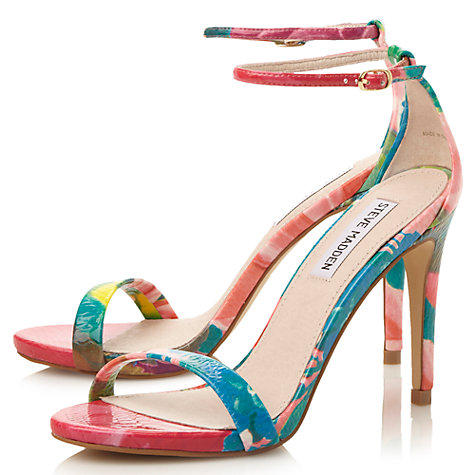 Steve Madden Stecy Barely There High Heel Sandals, Reptile