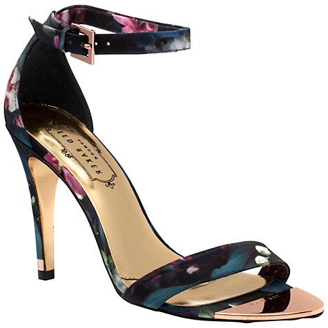Ted Baker Caitte Barely There High Heel Sandals, Fuchsia Print, Fuchsia Print