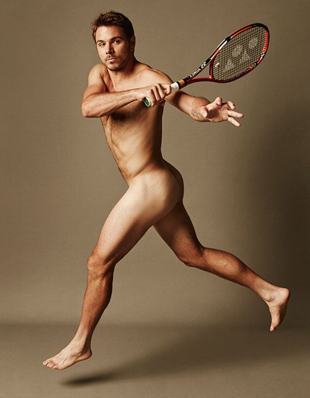 Nude Male Tennis Player