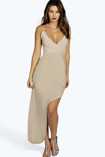 Helen Asymmetric Cross Front Strappy Dress
