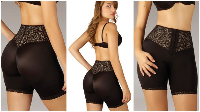 Mid Thigh Butt Enhancer with Front Closure
