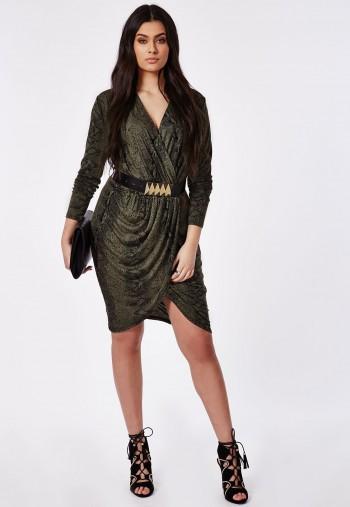 plus size dresses the Snake Print Wrap Dress