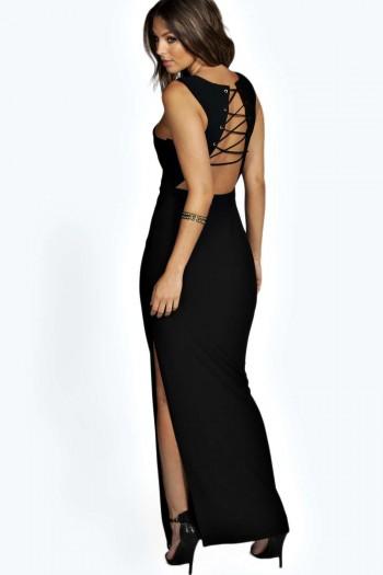 Soraia Lace Up Back Detail Maxi Dress