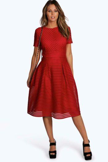 Zaira Boutique Full Skirted Prom Midi Dress