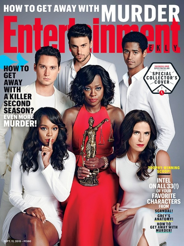 The cast of 'How to Get Away with Murder' on Entertainment Weekly September 11, 2015 cover