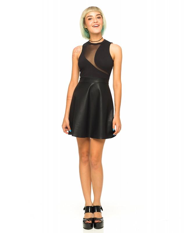 motel rocks dresses PU leather dress