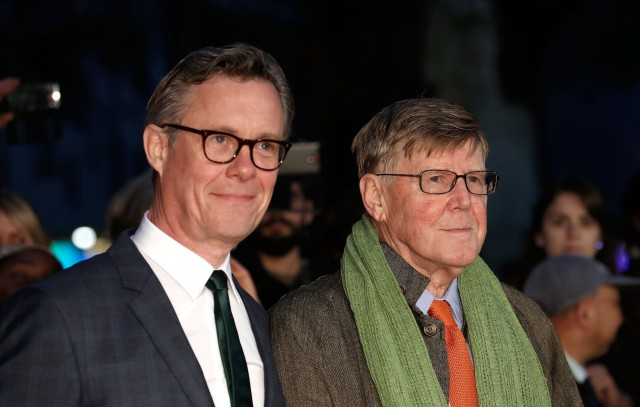 """LONDON, ENGLAND - OCTOBER 13:  Alex Jennings and Alan Bennett arrive at """"The Lady In The Van"""" - Centrepiece Gala, at Odeon Leicester Square on October 13, 2015 in London, England.  (Photo by John Phillips/Getty Images for BFI) *** Local Caption *** Alex Jennings; Alan Bennett"""