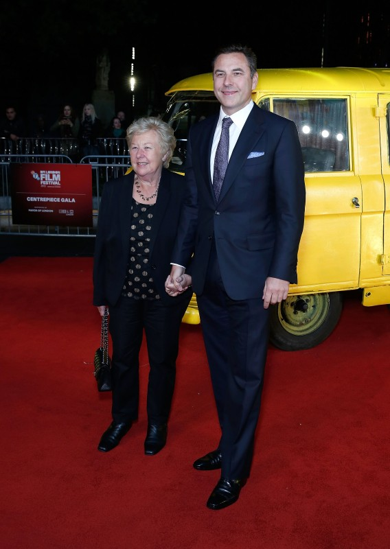 """LONDON, ENGLAND - OCTOBER 13:  David Walliams and mother Kathleen Ellis arrives at """"The Lady In The Van"""" - Centrepiece Gala, at Odeon Leicester Square on October 13, 2015 in London, England.  (Photo by John Phillips/Getty Images for BFI) *** Local Caption *** David Walliams; Kathleen Ellis"""