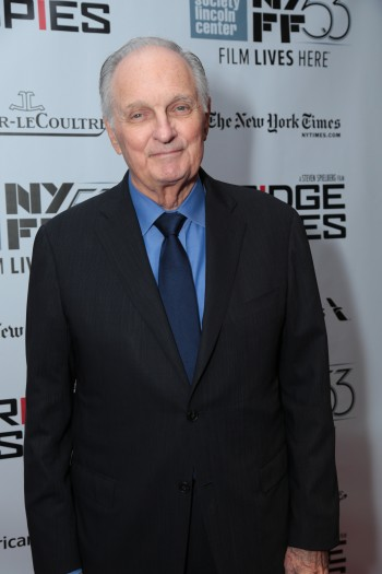 """Alan Alda arrives as DreamWorks Pictures and Fox2000 Pictures present the """"Bridge of Spies"""" world premiere at the New York Film Festival at Lincoln Center in New York on October 4, 2015 (Photo: Alex J. Berliner/ABImages)"""