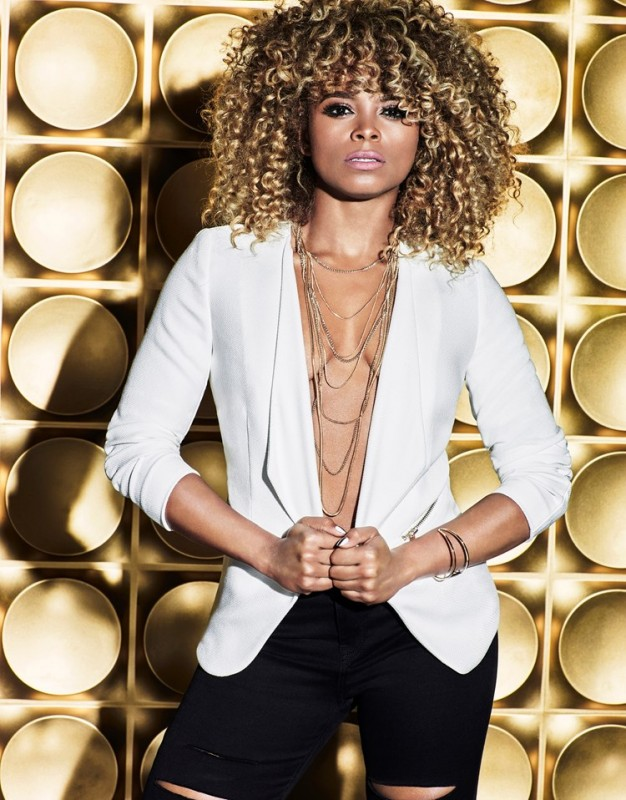 Fleur East by Lipsy blazer jacket in white only £55.00. Featuring ruched detailing and a front pocket with zip fastening