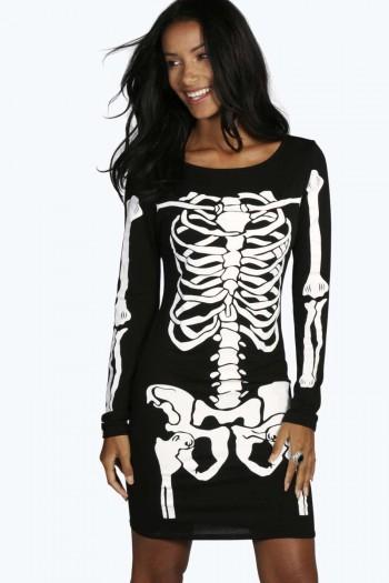 Maddie Skeleton Bodycon Dress