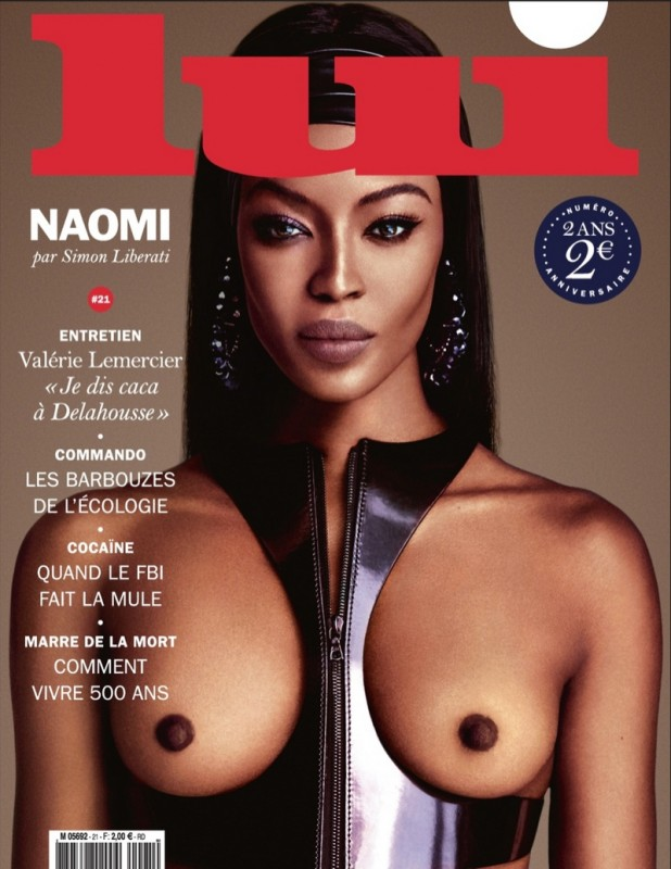 Naomi Campbell Naked in Lui Magazine 10