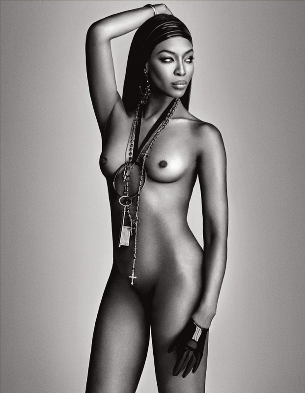 Naomi Campbell Naked in Lui Magazine 7