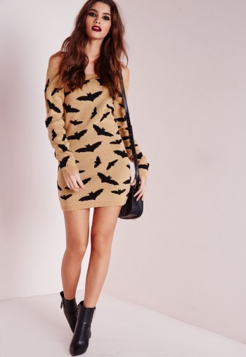 bat bardot dress camel