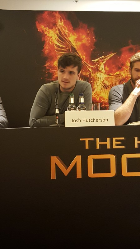 Josh Hutcherson attends the UK Press Conference of The Hunger Games Mockingjay Part 2. Photo Credit: Zehra Phelan