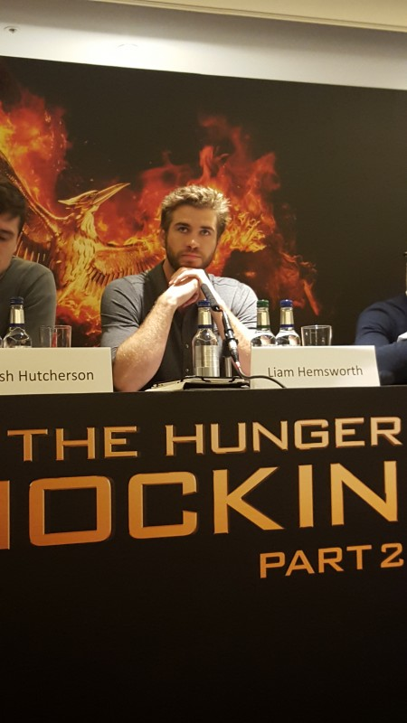 Liam Hemsworth attends the UK Press Conference of The Hunger Games Mockingjay Part 2. Photo Credit: Zehra Phelan