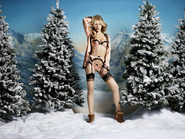 Abbey Clancy agent provocateur christmas campaign