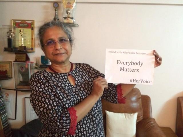 Credit Her Voice 3 - Priti Paktar leading activist