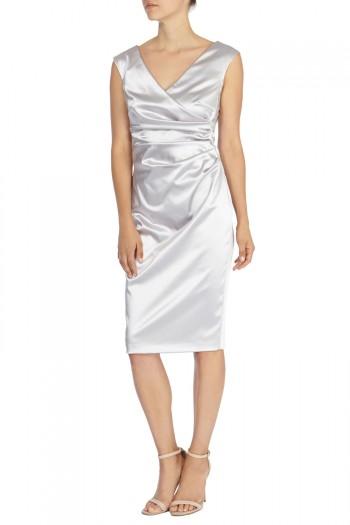 Della Duchess Satin Dress