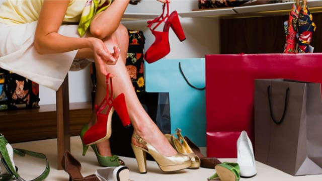 Women with shoes