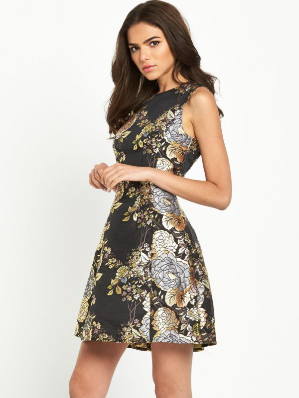AX Paris Metallic Skater Dress