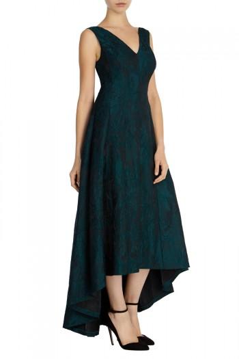 Aria Jacquard High Low Dress