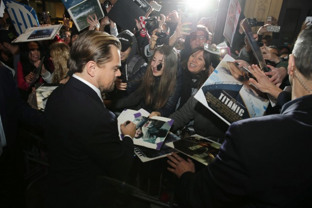 Leonardo DiCaprio seen at Twentieth Century Fox World Premiere of 'The Revenant' at TCL Chinese Theatre on Wednesday, Dec. 16, 2015, in Hollywood, CA. (Photo by Eric Charbonneau/Invision for Twentieth Century Fox/AP Images)
