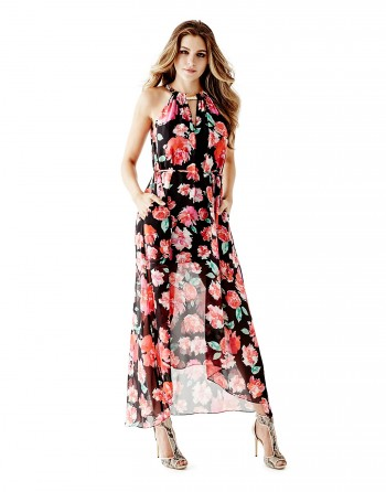 guess Long Dress with high low hem