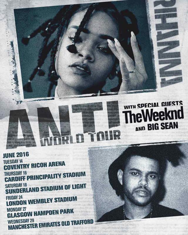 Rihanna UK tour 2016