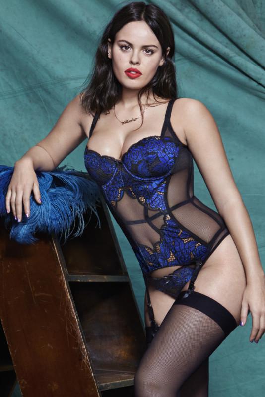Atlanta De Cadenet lingerie photo shoot for L'agent by Agent Provocateur 2016
