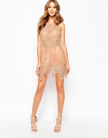 For Love and Lemons Mini Dress In Lace