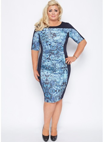 Gemma Collins Salerno Panelled Midi Dress