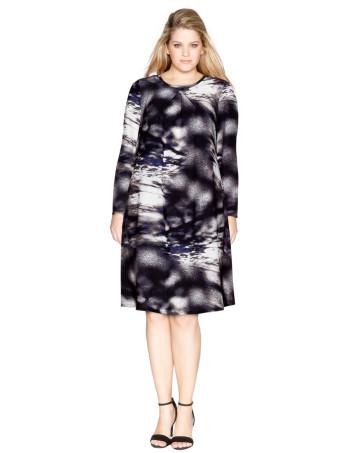 anna scholz A-line printed dress